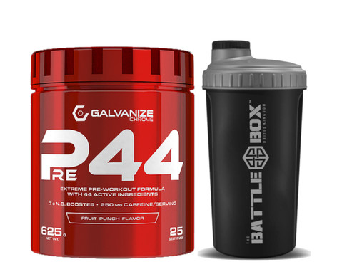 GALVANIZE | PRE-44 THE ULTIMATE PRE-WORKOUT BOOST  WWW.BATTLEBOXUK.COM