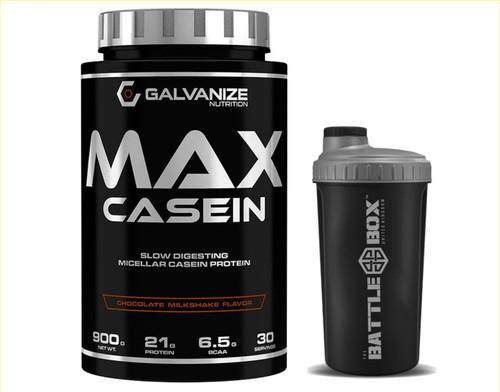 GALVANIZE | MAX CASEIN 900 | SLOW DIGESTING MICELLAR CASEIN PROTEIN WWW.BATTLEBOXUK.COM