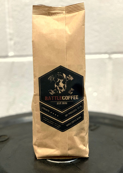 BattleCoffee™ Original Whole Coffee Beans 250g Dry Processed 17/18 Strength 4 - www.BattleBoxUk.com