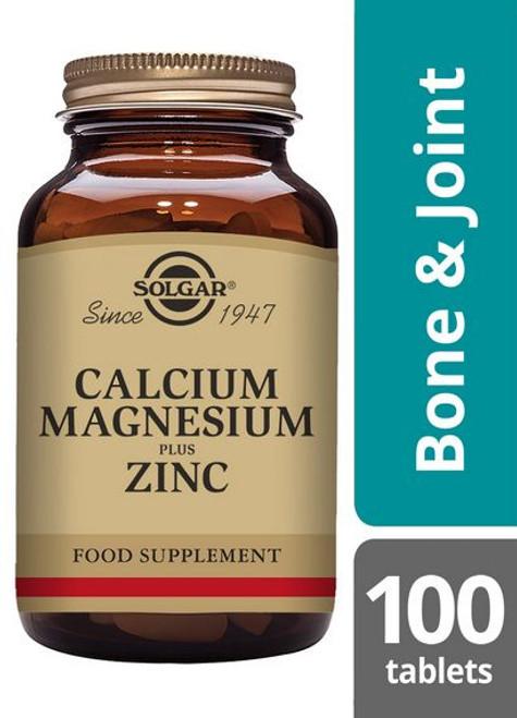 Solgar | Calcium Magnesium Plus Zinc Tablets | Pack of 100 (E520) www.battleboxuk.com