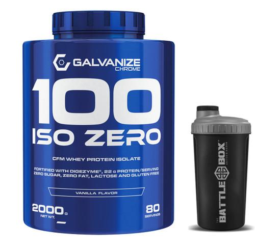 GALVANIZE | 100 ISO | ZERO PURIFIED | WHEY PROTEIN ISOLATE | VANILLA 2000G 80 SER GLUTEN FREE - www.BattleBoxUk.com