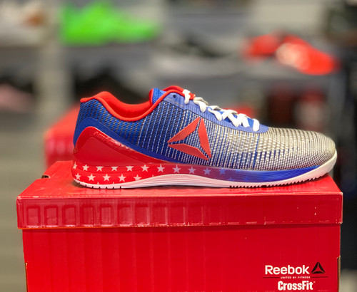Reebok CrossFit Nano 7.0 Men Size UK 13 US 14 Blue White Red CM9513 - www.BattleBoxUk.com
