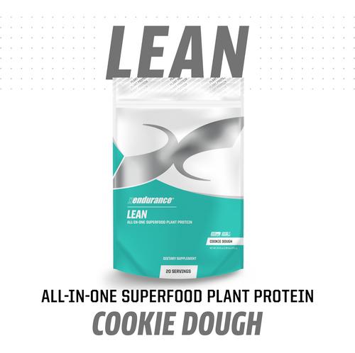 XENDURANCE LEAN   Superfood Plant Protein   20 Servings   Cookie Dough www.battleboxuk.com