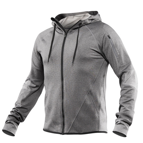 HYLETE | FLEXION Athletic Zip Jacket Heather Slate/Heather Gray - www.BattleBoxUk.com