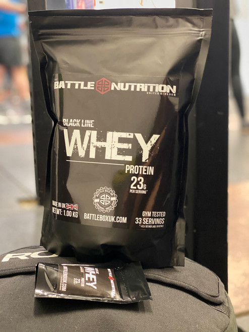 Battle Nutrition | Black Line WHEY Protein Powder | 23g Protein | Chocolate 1000g  - www.BattleBoxUK.com