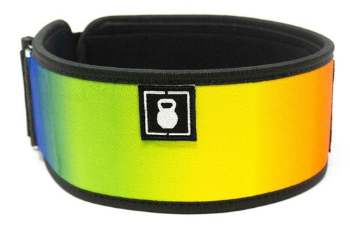 2POOD | RAINBOW STRAIGHT WEIGHTLIFTING BELT - www.BattleBoxUk.com