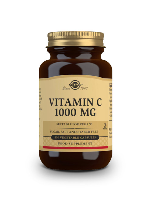 Solgar | 1000 mg Vitamin C Tablets | Pack of 100 Vegetable Capsules (E3280) - www.Battleboxuk.com