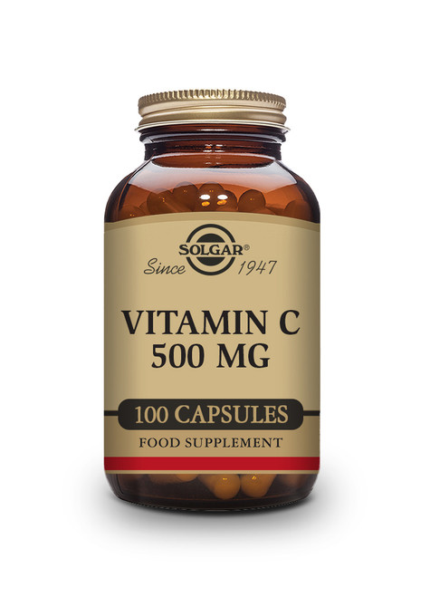 Solgar | 500 mg Vitamin C | Pack of 100 Vegetable Capsules (E3260) - www.BattleBoxUk.com