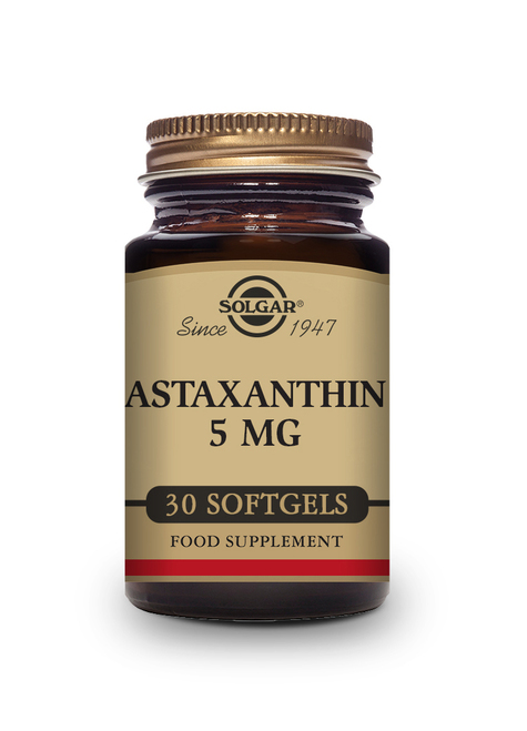 Solgar | Astaxanthin Complex 5 mg | Pack of 30 Softgels  - www.BattleBoxUk.com