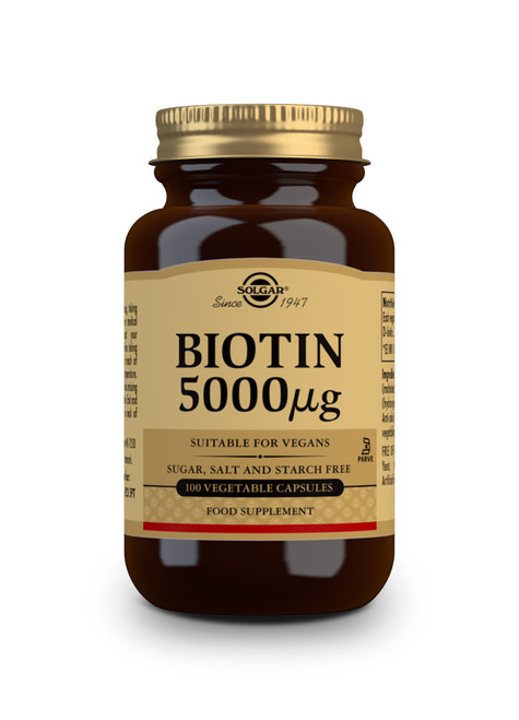 Solgar Biotin 5000 µg Vegetable Capsules - Pack of 100 www.battleboxuk.com