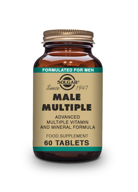 Solgar Male Multiple Tablets - Pack of 60 (E1724) www.battleboxuk.com