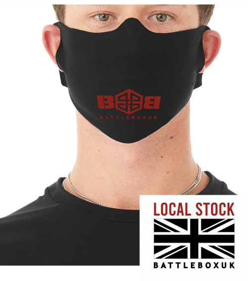 Black Mouth Face Reusable Mask Daily Lightweight Fabric Face Cover £3.45 - www.BattleBoxUk.com