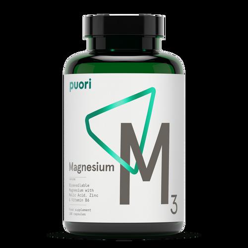 Puori | M3 Essential Minerals Magnesium Complex - 180 capsules  - www.BattleBoxUK.com