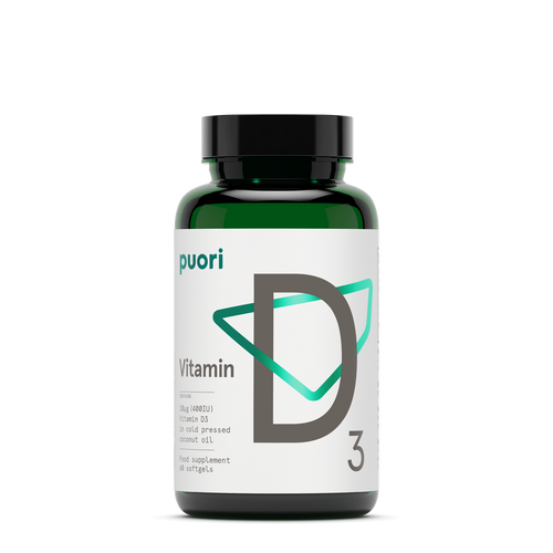 Puori | D3 - Naturally sourced Vitamin D 400IE - 60 capsules - www.BattleBoxUk.com