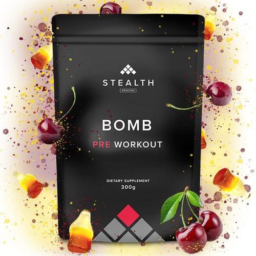 STEALTH NUTRITION -BOMB - Pre Workout 300g www.battleboxuk.com