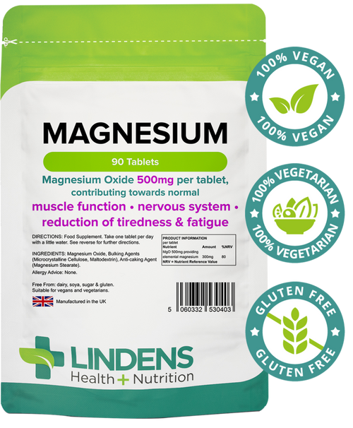 Lindens Health Nutrition | Magnesium Tablets (MgO 500mg) 90 Tablets  www.battleboxuk.com