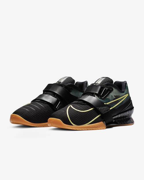 Nike Romaleos 4 Black/Gum Medium Brown/Limelight Style: CD3463-032  www.battleboxuk.com
