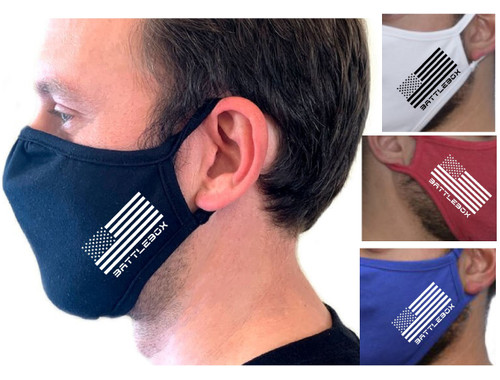 Eco Face Mask 2-Ply Washable Cover Shield Breathable Reusable Double Layer USA Flag  - www.BattleBoxUk.com