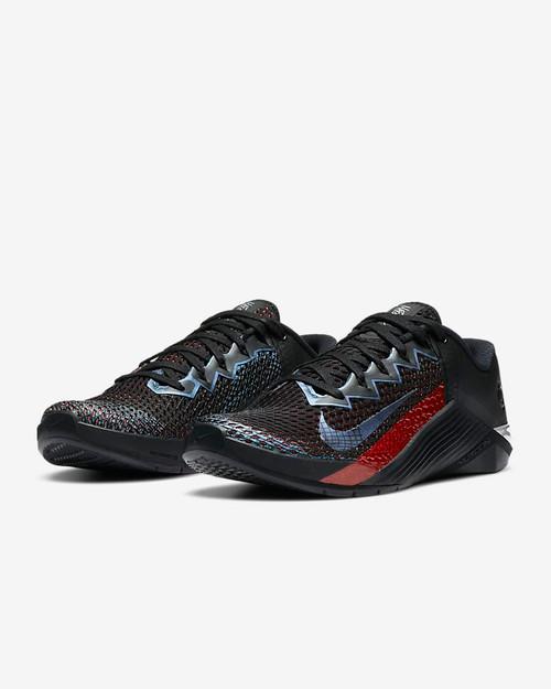 Nike Metcon 6 Mat Fraser | Black/Bright Crimson/Metallic Silver/Black CW6882-006 www.battleboxuk.com