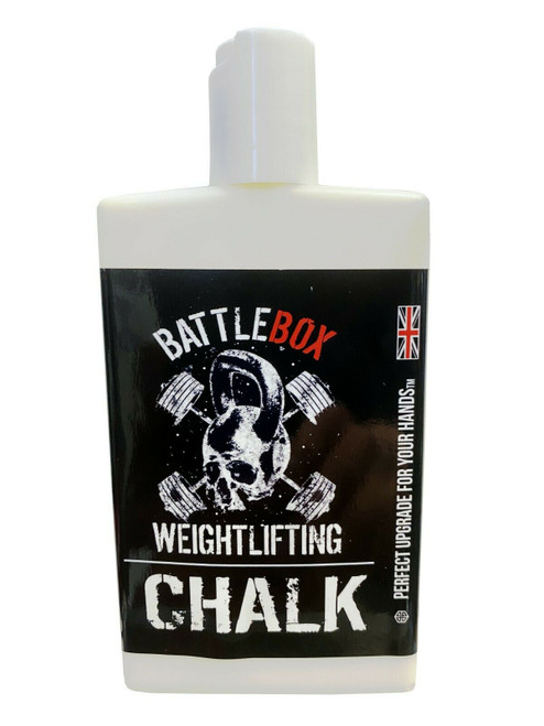 BATTLEBOX WEIGHTLIFTING™ | 100ml Premium Liquid Chalk Rock Climbing Gymnastics Gym Pole Dancing - www.BattleBoxUk.com