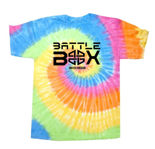 BattleBox UK™ | Eternity | Short Sleeve T-shirt | Rainbow Tie-Dye  - www.BattleBoxUk.com