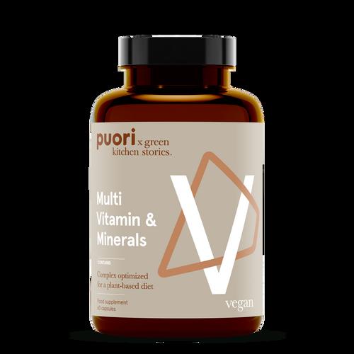 Puori | V - Multi Vitamin & Minerals - 60 capsules www.battleboxuk.com