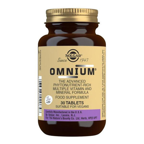 Solgar® | Omnium ® Tablets | Phytonutrient Rich Multiple Vitamin & Mineral Formula | Pack of 30 - www.BattleBoxUk.com