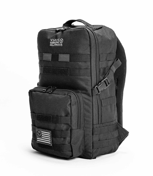 Virus Highlander Backpack Solid Black www.battleboxuk.com