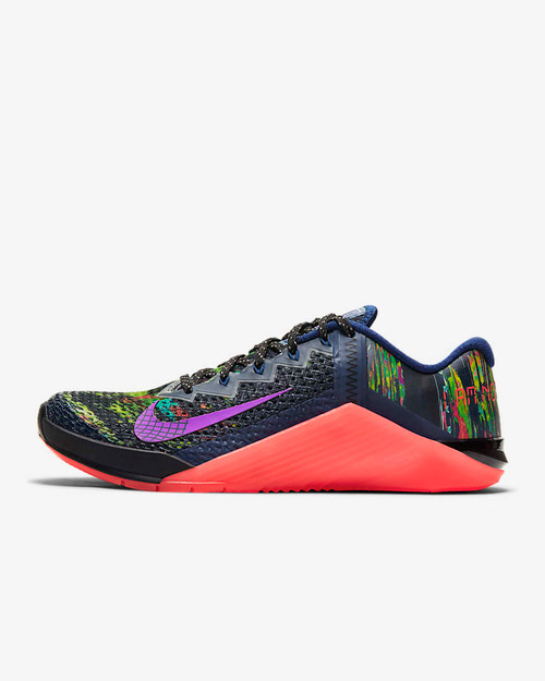 Nike Metcon 6 AMP Women's Training Shoe Blue Void/Flash Crimson/Flat Silver/Vivid Purple (CT1246-460) www.battleboxuk.com