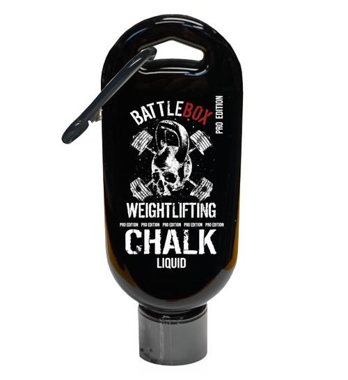 BattleBox Weightlifting Pro Edition 50ml Liquid Chalk With Carabiner Gymnastics Gym Rock  - www.BattleBoxUk.com