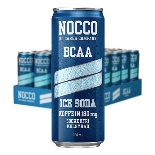 NOCCO Ice Soda BCAA Drink with Caffeine (Pack of 6,12 or 24 cans) - www.Battleboxuk.com