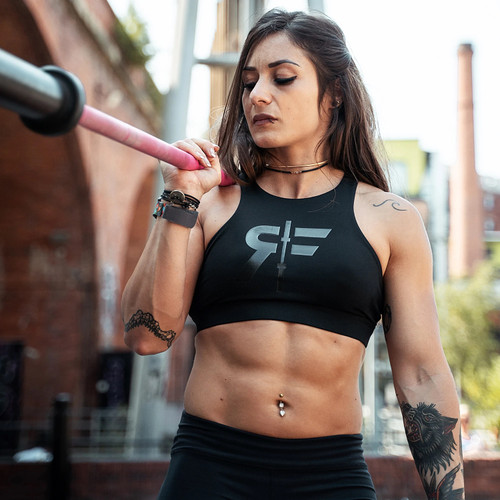 RokFit The Lizzie Sports Bra Black www.battleboxuk.com