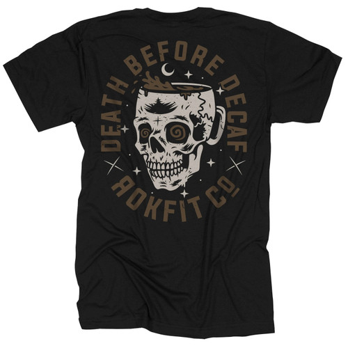 RokFit Death Before Decaf T-Shirt www.battleboxuk.com