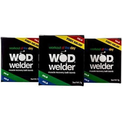 W.O.D. Welder Muscle Recovery Bath Bomb Assorted Pack of 3 www.battleboxuk.com