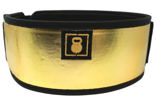 "2POOD | ""GOING FOR GOLD"" BY MATTIE ROGERS STRAIGHT WEIGHTLIFTING BELT (w/ WODclamp®) www.battleboxuk.com"