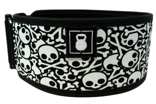 2POOD | SKULLZ STRAIGHT WEIGHTLIFTING BELT w/ WODclamp® - www.BattleBoxUk.com