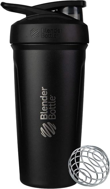 BlenderBottle® Strada™ Thermo Edelstahl Protein Shaker Black www.battleboxuk.com