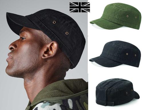 100% Heavy Cotton Army Hat Mens Womens Military Cadet Baseball Cap - www.BattleBoxUk.com