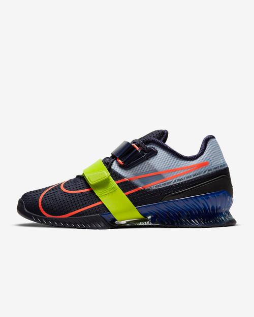 Nike Romaleos 4 Blackened Blue/Deep Royal Blue/Cyber/Bright Mango (CD3463-400) www.battleboxuk.com