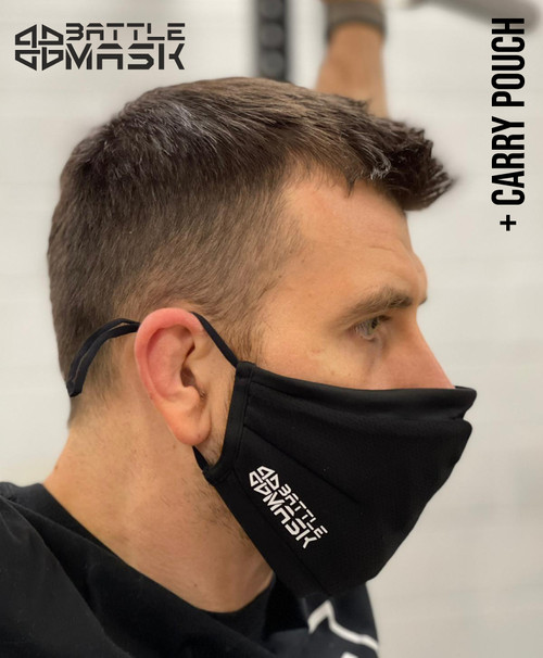Battle Mask Fitness Face Mask Triple Layer Washable Cover Shield Breathable Reusable With Pouch  - www.BattleBoxUk.com