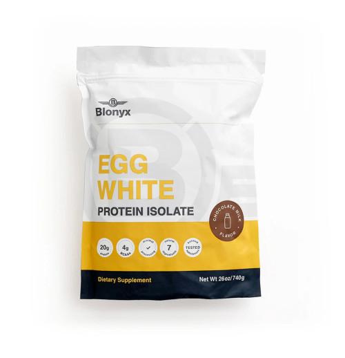 Blonyx Egg White Protein Isolate Chocolate Milk 740g (80039957) www.battleboxuk.com