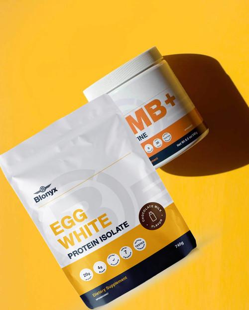 Blonyx Egg White Protein Isolate + Blonyx HMB Creatine Pack www.battleboxuk.com