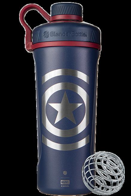 BlenderBottle® Marvel® - Radian™ Insulated Stainless Steel 26oz / 770ml Captain America  www.battleboxuk.com
