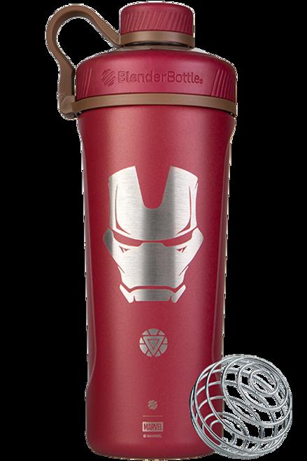 BlenderBottle® Marvel® - Radian™ Insulated Stainless Steel 26oz / 770ml Iron Man  www.battleboxuk.com