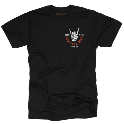 RokFit   Rock Your WOD  Men's Tee   black www.battleboxuk.com