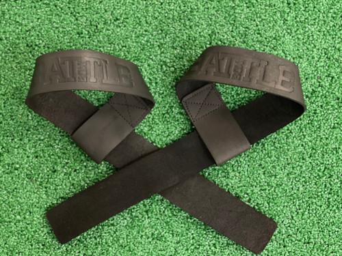 Battle Box 100% Leather Lifting Straps Black www.battlebooxuk.com