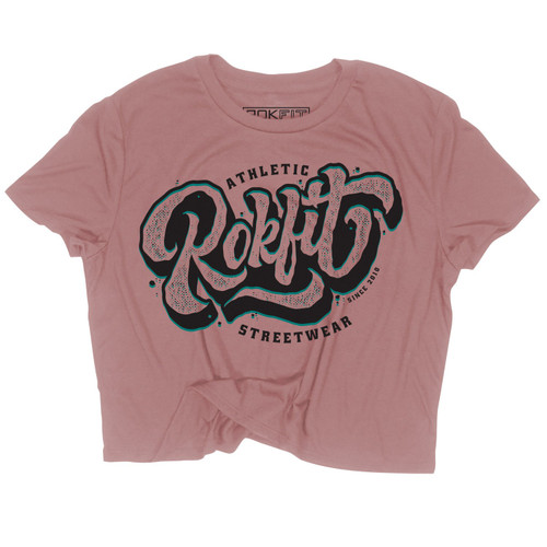Rokfit The Carver Athletic Streetwear Logo Crop Shirt  www.battleboxuk.com