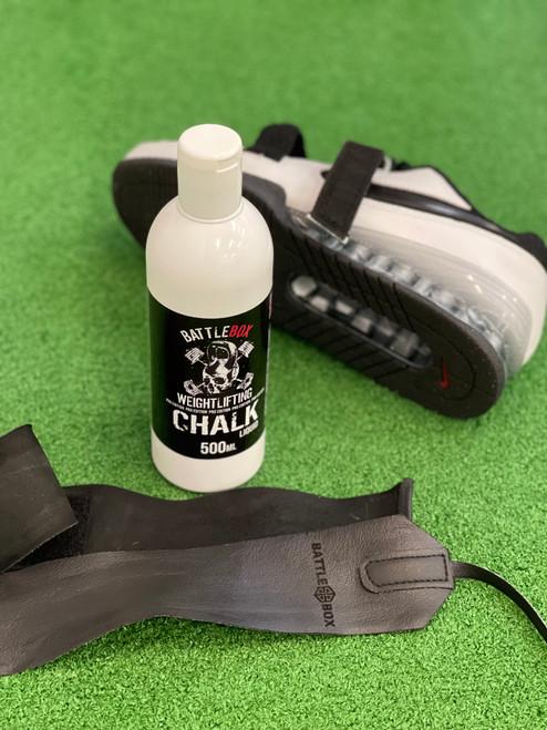 BATTLEBOX WEIGHTLIFTING™ | 500ml Premium Liquid Chalk For Rock Climbing Gymnastics Gym Pole Dancing WeightLifting - www.BattleBoxUk.com