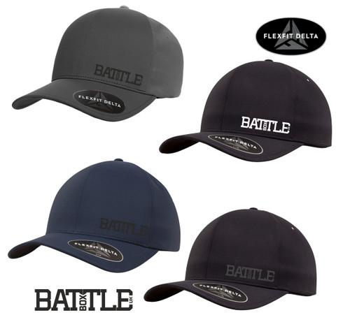 BattleBoxUk Unisex Delta® Curved Peak Adjustable Baseball Cap Hat by Flexfit  - www.BattleBoxUK.com