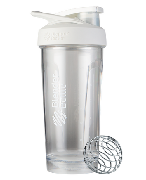 BlenderBottle® Strada™ Tritan Protein Shaker White www.battleboxuk.com